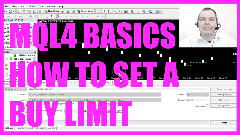 MQL4 TUTORIAL BASICS - 14 HOW TO SET A BUY LIMIT
