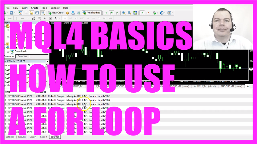 MQL4 TUTORIAL BASICS - 9 HOW TO USE A FOR LOOP