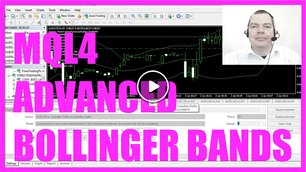 MQL4 TUTORIAL - ADVANCED BOLLINGER BANDS EXPERT ADVISOR