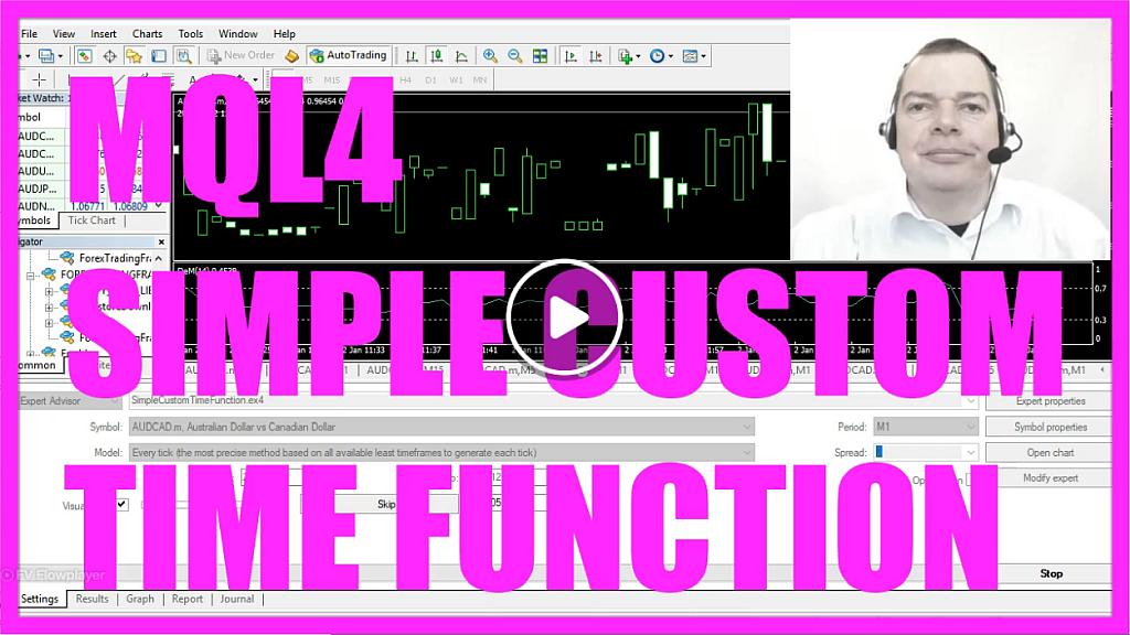MQL4 TUTORIAL - SIMPLE CUSTOM TIME FUNCTION - MQL4TUTORIAL COM