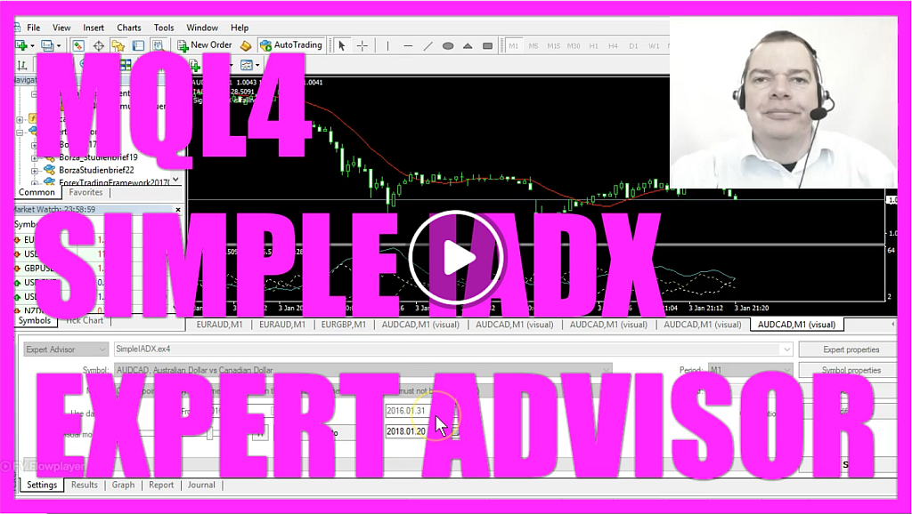 MQL4 TUTORIAL - SIMPLE IADX EXPERT ADVISOR - MQL4TUTORIAL COM