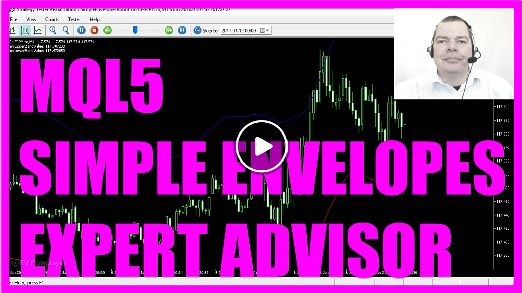 MQL5 Tutorial - Simple Envelopes Expert Advisor with MQL5