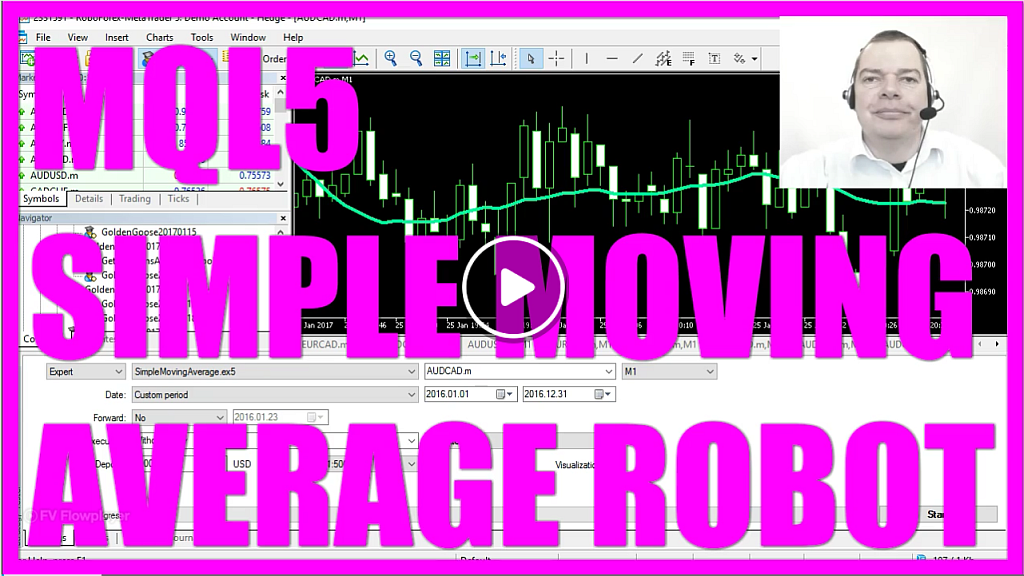 MQL5 Tutorial - Simple Moving Average Robot with MQL5 - MQL5 Tutorial